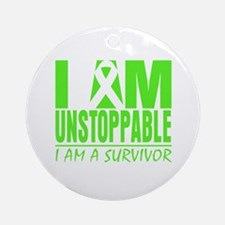 I Am Unstoppable Lymphoma Ornament (Round)