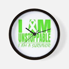 I Am Unstoppable Lymphoma Wall Clock