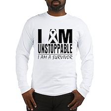 I am Unstoppable Melanoma Long Sleeve T-Shirt