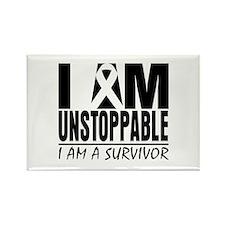 I am Unstoppable Melanoma Rectangle Magnet