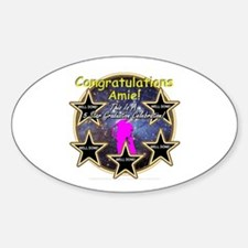 Grad Girls Amie: 0002 Sticker (Oval)