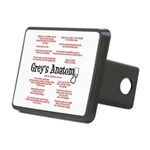 Grey's Anatomy Quotes Rectangular Hitch Cover
