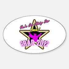 Grad Girls Amie: 0003 Sticker (Oval)