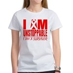 Unstoppable Oral Cancer Women's T-Shirt