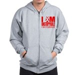 Unstoppable Oral Cancer Zip Hoodie