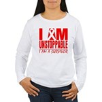 Unstoppable Oral Cancer Women's Long Sleeve T-Shir