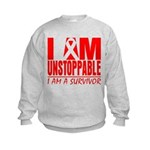 Unstoppable Oral Cancer Kids Sweatshirt