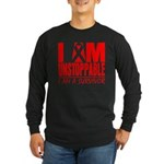 Unstoppable Oral Cancer Long Sleeve Dark T-Shirt