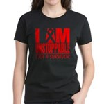 Unstoppable Oral Cancer Women's Dark T-Shirt