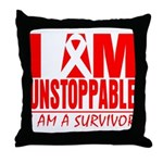 Unstoppable Oral Cancer Throw Pillow