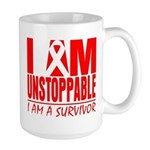 Unstoppable Oral Cancer Large Mug