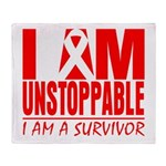 Unstoppable Oral Cancer Throw Blanket
