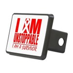 Unstoppable Oral Cancer Rectangular Hitch Cover