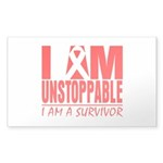Unstoppable Oral Cancer Sticker (Rectangle 50 pk)