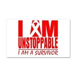 Unstoppable Oral Cancer Car Magnet 20 x 12