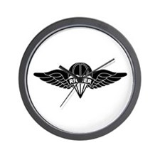 Parachute Rigger B-W Wall Clock
