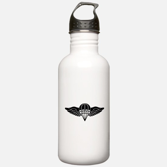 Parachute Rigger B-W Water Bottle