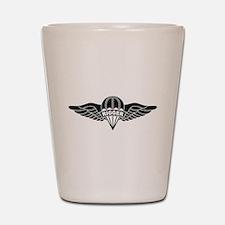 Parachute Rigger B-W Shot Glass