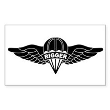 Parachute Rigger B-W Stickers
