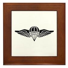 Parachute Rigger B-W Framed Tile