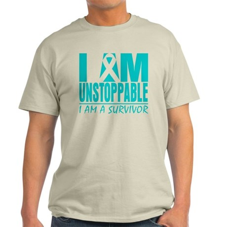 Unstoppable Ovarian Cancer Light T-Shirt