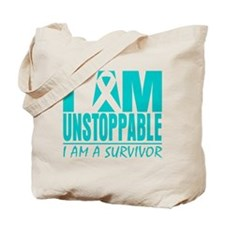 Unstoppable Ovarian Cancer Tote Bag
