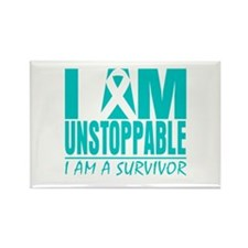 Unstoppable Ovarian Cancer Rectangle Magnet