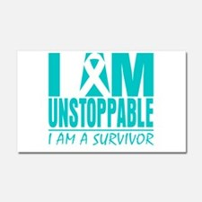Unstoppable Ovarian Cancer Car Magnet 20 x 12