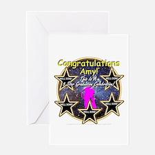 Grad Girls Amy: 0002 Greeting Card
