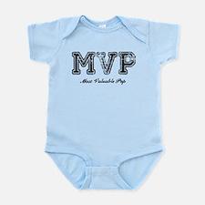 Most Valuable Pop – MVP – Black Infant Bodysuit