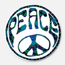 Peace - Mellow Round Car Magnet