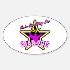 Grad Girls Amy: 0003 Sticker (Oval)