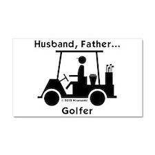Husband, Father, Golfer Car Magnet 20 x 12