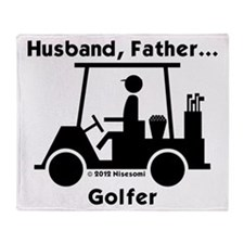 Husband, Father, Golfer Throw Blanket