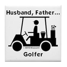 Husband, Father, Golfer Tile Coaster