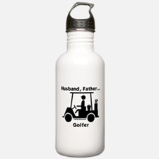 Husband, Father, Golfer Water Bottle