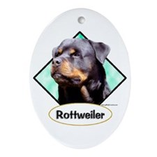 Rottie 3 Oval Ornament