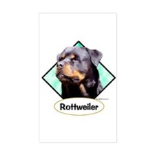 Rottie 3 Rectangle Decal