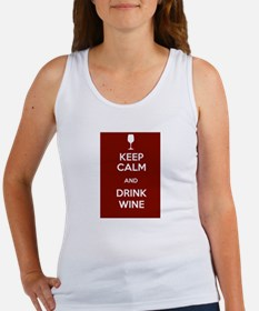 Keep Calm and Drink Wine Women's Tank Top