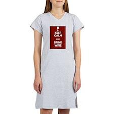 Keep Calm and Drink Wine Women's Nightshirt