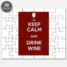 Keep Calm and Drink Wine Puzzle