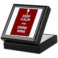 Keep Calm and Drink Wine Keepsake Box