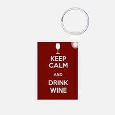Keep Calm and Drink Wine Keychains