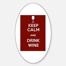 Keep Calm and Drink Wine Decal
