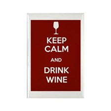 Keep Calm and Drink Wine Rectangle Magnet (10 pack