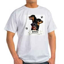 Rottie 4 Ash Grey T-Shirt