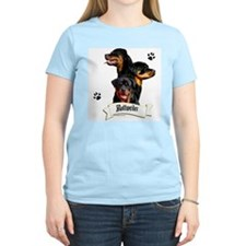 Rottie 4 Women's Pink T-Shirt