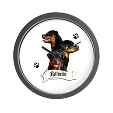 Rottie 4 Wall Clock