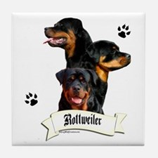 Rottie 4 Tile Coaster