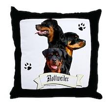 Rottie 4 Throw Pillow